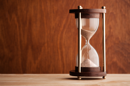 Hourglass. Wood