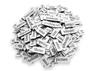 Words in a pile