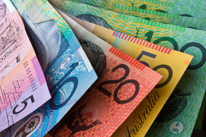 If you're a non Aussie reading this, yes our money really is this brightly coloured. And it's plastic. (Great for washing machine.)